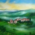 Toszkána - olajfestmény, Képzőművészet, Dekoráció, Festmény, Kép, Festészet, Toszkána című olaj, vászon, 40x50 cm-es festményemet ajánlom szeretettel.  Toszkánában járunk, a ha..., Meska