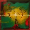 Tánc-festmény, Dekoráció, Képzőművészet, Otthon, lakberendezés, Kép, Tánc című, akril, vászon, 30x30 cm-es festményemet ajánlom szeretettel.  A tánc szerelmeseinek ajánl..., Meska