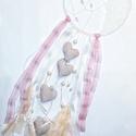 Vintage álomfogó - egyedi álomhozó levendulával, Dekoráció, Dísz, Mindenmás, Varrás, Ha már unod az indián vonalat, nézz inkább csipkét, fonalat! ;) Az álomfogó alapjául egy 18 cm átmé..., Meska