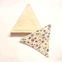 Poháralátét - háromszög, Konyhafelszerelés, Mindenmás, Edényalátét, Varrás, A poháralátét kétoldalú, színben, mintában egyeztetni szükséges megrendelés előtt. A háromszög olda..., Meska