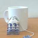 Könyvjelző levendulával - teafilter, Dekoráció, Otthon, lakberendezés, Dísz, Varrás, Ez a levendulás teafilter könyvjelzőként használható. Rendelhető más színben vagy mintával is, ami ..., Meska