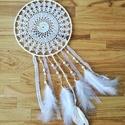 Vintage álomfogó - csipkével, Dekoráció, Baba-mama-gyerek, Dísz, Mindenmás, Csomózás, Ha már unod az indián vonalat, nézz inkább csipkét, fonalat! ;) Az álomfogó alapjául egy 20 cm átmé..., Meska