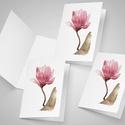 Magnolia - festményeim képeslapon (A6), Képzőművészet, Naptár, képeslap, album, Festmény, Képeslap, levélpapír, Festészet, Festményeim most már képeslap formájában is elérhetőek.  Az üdvözlőlapok mérete 148x105 mm (A6), a ..., Meska