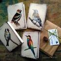 Madártanulmányok képeslapon - 4 db-os csomag, borítékkal, Képzőművészet, Naptár, képeslap, album, Festmény, Képeslap, levélpapír, Akvarell madártanulmányaim most már képeslap formájában is elérhetőek.  Az üdvözlőlapok mérete 148x1..., Meska