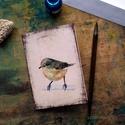 Csilpcsalpfüzike - festményeim képeslapon, borítékkal, Képzőművészet, Naptár, képeslap, album, Festmény, Képeslap, levélpapír, Akvarell madártanulmányaim most már képeslap formájában is elérhetőek.  Az üdvözlőlapok mérete 148x1..., Meska