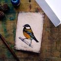Széncinke - festményeim képeslapon, borítékkal, Képzőművészet, Naptár, képeslap, album, Festmény, Képeslap, levélpapír, Akvarell madártanulmányaim most már képeslap formájában is elérhetőek.  Az üdvözlőlapok mérete 148x1..., Meska