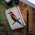 Gyurgyalag - festményeim képeslapon, borítékkal, Akvarell madártanulmányaim most már képeslap f...