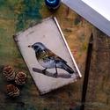 Fenyőrigó - festményeim képeslapon, borítékkal, Képzőművészet, Naptár, képeslap, album, Festmény, Képeslap, levélpapír, Akvarell madártanulmányaim most már képeslap formájában is elérhetőek.  Az üdvözlőlapok mérete 148x1..., Meska