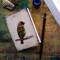 Veréb - festményeim képeslapon, borítékkal, Képzőművészet, Naptár, képeslap, album, Festmény, Képeslap, levélpapír, Akvarell madártanulmányaim most már képeslap formájában is elérhetőek.  Az üdvözlőlapok mérete 148x1..., Meska