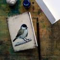 Barátcinege - festményeim képeslapon, borítékkal, Képzőművészet, Naptár, képeslap, album, Festmény, Képeslap, levélpapír, Akvarell madártanulmányaim most már képeslap formájában is elérhetőek.  Az üdvözlőlapok mérete 148x1..., Meska