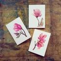 Magnolia sorozat - festményeim képeslapon (A6)
