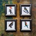 Akvarell festményről készült, keretezett művészi mininyomat