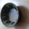 Sütőforma, Dekoráció, Konyhafelszerelés, Otthon, lakberendezés, Zöld mázas, kerámia sütőforma. Mérete: átmérő: 24 cm, magassága: 8.5 cm., Meska