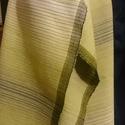 Zöldes színű sál / stóla, Ruha, divat, cipő, Kendő, sál, sapka, kesztyű, Sál, Szövés, Világosból sötétzöldbe, hosszan színátmenetes sál, stóla. Méret: 41x188 cm (+7 cm rojt)., Meska