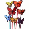 7 db bella-pille garnitúra, minden színben, üvegpálcán, Otthon, lakberendezés, Dekoráció, Kerti dísz, Mindenmás, Üvegművészet, Egyenként 2500ft-ba kerülnek ezek az élethű tiffany pillangók, ha többet is rendelsz, a feltüntetet..., Meska