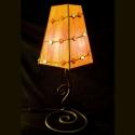 Karneol-hegyikristály tiffany lámpa, Otthon, lakberendezés, Dekoráció, Bútor, Lámpa, Mindenmás, Üvegművészet, egyedi tervezésű karneol-hegyikristály berakású tiffany asztali lámpa narancs színben, de bármilyen..., Meska