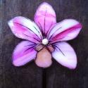 Tiffany Orchidea virágdísz Bálint napra, Otthon, lakberendezés, Dekoráció, Kerti dísz, Mindenmás, Üvegművészet, (3db vásárlása esetén 3300 ft /darab). Nagyon szép élethű orchidea Rózsaszín világos és sötét rózsa..., Meska