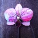 Tiffany Orchidea virágdísz Bálint napra, Otthon, lakberendezés, Dekoráció, Kerti dísz, Mindenmás, Üvegművészet,  Nagyon szép élethű orchidea Rózsaszín világos és sötét rózsaszín színben is , illetve bármilyen sz..., Meska