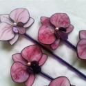 Tiffany Orchidea csokor 5 db, Otthon, lakberendezés, Dekoráció, Kerti dísz, Mindenmás, Üvegművészet,  Aki a virágot szereti...  5 db szépséges virág a virágimádóknak, főként, aki kedveli az orchidea é..., Meska