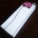 3D Orchideás ékszerdoboz tiffany üvegből, Otthon, lakberendezés, Ékszer, óra, Tárolóeszköz, Ékszertartó, Mindenmás, Üvegművészet, Finom, visszafogott elegáns orchideavirág ékszerdoboz formába költve  A színe mellé illik a selyem ..., Meska