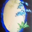 Tiffany kék nefelejcses tükör, Otthon, lakberendezés, Dekoráció, Bútor, Képkeret, tükör, Mindenmás, Üvegművészet, Szikrázóan kék mégsem blues, sőt ultra-vidám élettel tükör amelybe ha belepillantasz talán még egy ..., Meska