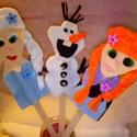 Jégvarázs ujjbáb csomag (3db.), Baba-mama-gyerek, Játék, Báb, Baba játék, Bábozz a babádnak, gyerkőcödnek! Fogadd szeretettel Elzát, Annát és Olafot egy vidám trióba..., Meska