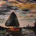 Vitorlás a vízen - olajkép, Képzőművészet, Dekoráció, Festmény, Olajfestmény, Festészet, --- --- --- --- --- --- NYÁRI AKCIÓ --- --- --- --- --- ---   A termék jelenleg jelentős árkedvezmé..., Meska