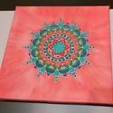 Megújulás selyem mandala, Egyedi tervezésű és készítésű mandala, sely...