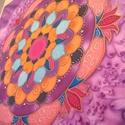 Selyem mandala falikép, Egyedi tervezésű és készítésű mandala, sely...