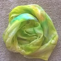 Zöld tavaszi selyemsál, AKCIÓ! 4500 Ft helyett 3000 Ft!  40*150 cm méret...