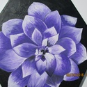 Lila virág, Dekoráció, Kép, Festészet, Lila virág című festményem olajfestékkel, hatszögletű,  25 x 25 cm-es feszített vászonra készült. A..., Meska