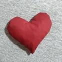 Szív alakú meggymag párna , Baba-mama-gyerek, Karácsonyi, adventi apróságok, A meggymag párna jótékony hatása a népi gyógyászatban régóta ismert. Hideg- és meleg terá..., Meska