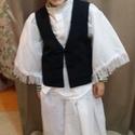 Fiúcska csikós ruha, Magyar motívumokkal, Ez a fiúcska ruha 3 darabból áll ingből nadrágból és mellényből .Mérete 110 es 3-4 éves f..., Meska