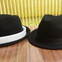 Néptáncos fiúcska kalap, Ruha, divat, cipő, Kendő, sál, sapka, kesztyű, Sapka, A kalap filcből készült keskeny peremű .Mérete 54cm, Meska