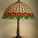 Tiffany lámpa, Otthon, lakberendezés, Lámpa, Hangulatlámpa, Asztali lámpa, Tiffany lámpa.  A lámpaernyő átmérője:30cm.   A lámpa teljes magassága:40cm. Bármilyen más..., Meska