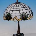 Tiffany lámpa, Képzőművészet, Dekoráció, Otthon, lakberendezés, Lámpa, Tiffany lámpa.  A lámpaernyő átmérője:30cm.   A lámpa teljes magassága:40cm.  Bármilyen má..., Meska
