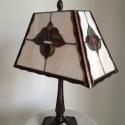 Tiffany lámpa, Otthon, lakberendezés, Dekoráció, Lámpa, Asztali lámpa, Üvegművészet, Tiffany technológiával készült, dekoratív asztali lámpa. Magassága:38cm, átmérője:30cm Természetese..., Meska