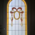 Nyílászáró díszüveg, Otthon, lakberendezés, Dekoráció, Dísz, Bejárati ajtóba készített, 3rétegű hőszigetelt díszüveg. A díszüveg Tiffany technológiá..., Meska