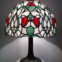 Tiffany lámpa, Otthon, lakberendezés, Dekoráció, Lámpa, Asztali lámpa, Üvegművészet, Tiffany lámpa.  480 darab üvegből összeállított 40cm átmérőjű, 55cm magasságú Tiffany lámpa., Meska
