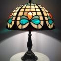 Tiffany lámpa, Dekoráció, Otthon, lakberendezés, Lámpa, Asztali lámpa, Tiffany lámpa. A lámpaernyő átmérője:30cm A lámpa magassága 40cm., Meska