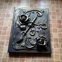 Dekorált könyv, Dekoráció, Képzőművészet, Szobor, Festészet, Gyurma, Modellgyurmával díszített keménykötésű könyv, napló, emlékkönyv, vendégkönyv. A díszítést a vevő ha..., Meska