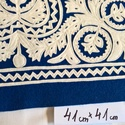 szűrrátétes terítő, Otthon, lakberendezés, Magyar motívumokkal, Képzőművészet, Textil, szűrrátétes terítő gyapjúfilcből készült. Mérete 41x41cm. kék alapon fehér rátét.  Eze..., Meska