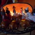 Betlehemi jászol, Otthon, lakberendezés, Kerámia, A betlehemi jászol figurái között megtalálható a születési legenda valamennyi szereplője: a szent c..., Meska