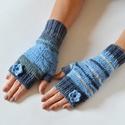 Jégvirág - ujj nélküli kézmelegítő, Nemcsak a jeges napokra!  Kézi kötésű, ujj né...