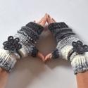 Romantikus tél - kézmelegítő készlet, Puha, színátmenetes fonalból készítettem ezt ...