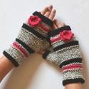 Pink tél - Vigyél színt a szürke télbe! - Egyszer sportos, egyszer nőies! Kézmelegítő horgolt virágdísszel, Akár sportos, akár nőies-romantikus a stílusod...