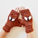 Vuk és Kag - puha fonalból készült kézmelegítő horgolt róka motívummal, ami levehető. Jöhet a tél!, Vuk és Kag - régi kedvenceim :-)  Rókavörös s...