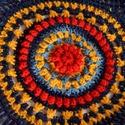 Andok színei - piros -sárga - kék horgolt buborék bolero kardigán shrug 2 pompon dísszel, Ruha, divat, cipő, Női ruha, Poncsó, Az Andok színei jutottak eszembe ezekről a fonalakról - kicsit etnikus hatású ez a buborék boleró, m..., Meska