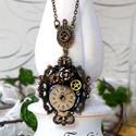 Steampunk  (nyaklánc), Bronz színű, steampunk jegyekkel készült nyakb...