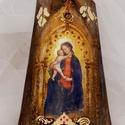 Középkori Madonna...   (kép, dísz), 20 cm magas kerámia alapra készítettem, régies...